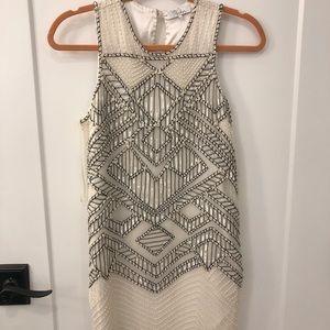 NWOT Parker Beaded XS Cream/White Dress